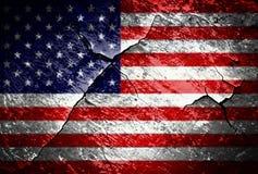 Drapeau grunge des Etats-Unis photographie stock