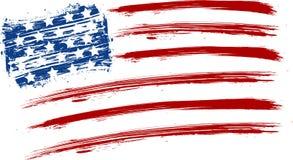 Drapeau grunge des Etats-Unis Photos stock