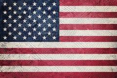 Drapeau grunge des Etats-Unis Drapeau américain avec la texture grunge photographie stock libre de droits