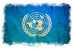 Drapeau grunge des Nations Unies illustration stock