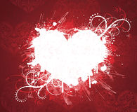 Drapeau grunge du jour de valentine. Images stock
