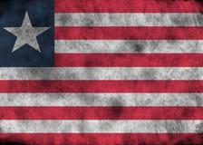 Drapeau grunge du Libéria Photographie stock libre de droits