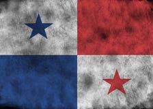 Drapeau grunge du Panama Image libre de droits