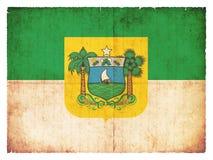 Drapeau grunge du Rio Grande do Norte Brésil Photographie stock libre de droits