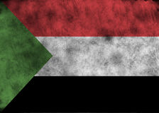 Drapeau grunge du Soudan Photos stock