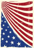 Drapeau grunge gentil américain illustration de vecteur