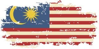 Drapeau grunge malaisien Illustration de vecteur Image stock