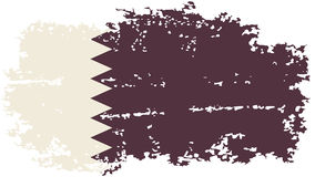Drapeau grunge qatari Illustration de vecteur illustration de vecteur