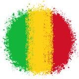 Drapeau grunge rond du Mali illustration stock