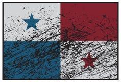 Drapeau Grunged du Panama illustration de vecteur