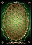 Drapeau héraldique royal vert illustration de vecteur