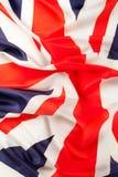 Drapeau hérissé soyeux d'image de la Grande-Bretagne photos stock