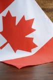 Drapeau heureux de Canadien de jour de Canada Photographie stock