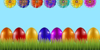 Drapeau heureux de Pâques illustration libre de droits