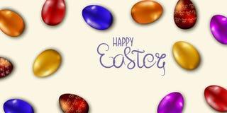 Drapeau heureux de Pâques Illustration de vecteur Images stock