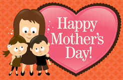 Drapeau heureux du jour de mère illustration libre de droits