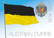 Drapeau historique d'empire autrichien, Autriche illustration libre de droits