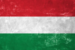 Drapeau hongrois photographie stock libre de droits