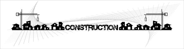 Drapeau - immeubles - entreprises de construction Photos libres de droits
