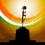 Drapeau indien avec la conception amar de vecteur de jyoti Photo stock