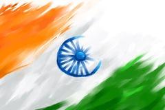 Drapeau indien sale Image stock