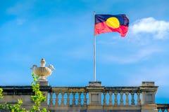 Drapeau indigène australien photographie stock libre de droits