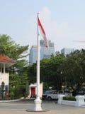 Drapeau indonésien au National Gallery de l'Indonésie Photos libres de droits