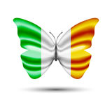 Drapeau Irlande de papillon Photo stock