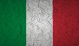 Drapeau italien avec l'effet du papier et du grunge chiffonnés illustration libre de droits