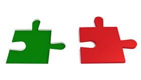 Drapeau italien, morceau de puzzle Images libres de droits
