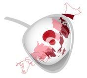 Drapeau japonais illustration stock