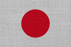 Drapeau japonais du Japon avec la texture de tissu images libres de droits