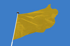 Drapeau jaune photo stock