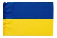 Drapeau jaune et bleu de l'Ukraine Photos libres de droits