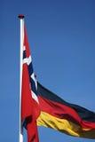 Drapeau. La Norvège et l'Allemagne Photo libre de droits