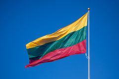 Drapeau lithuanien Image stock
