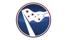 Drapeau Logo Design Template de liberté Photographie stock libre de droits