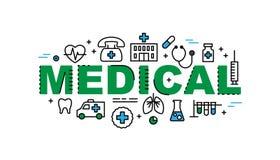 Drapeau médical Industrie de santé et de médecine Image stock