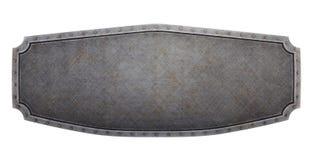 Drapeau métallique Photographie stock
