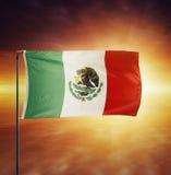 Drapeau mexicain Images stock
