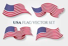 Drapeau national américain de la vague 3D illustration libre de droits