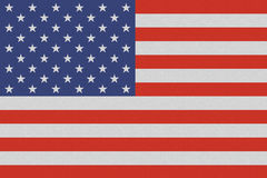 Drapeau national américain des Etats-Unis sur la texture de toile illustration stock