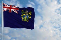 Drapeau national d'île de Pitcairn Photographie stock libre de droits