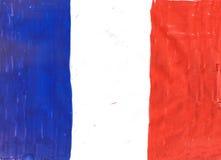 Drapeau national d'illustration de Frances illustration de vecteur