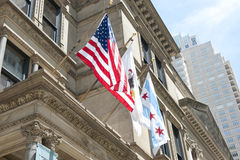 Drapeau national de Chicago Photographie stock