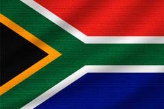 Drapeau national de l'Afrique du Sud illustration de vecteur