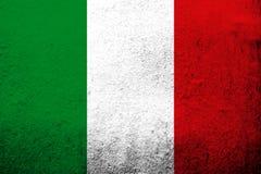 """Drapeau national de l'Italie """"IL Tricolore """" Fond grunge illustration de vecteur"""