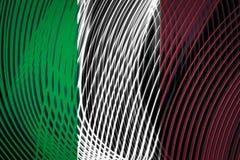 Drapeau national de l'Italie illustration stock