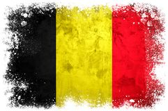 Drapeau national de la Belgique Image libre de droits
