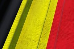 Drapeau national de la Belgique illustration stock